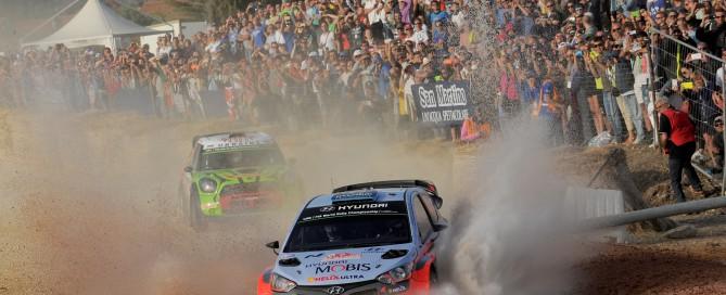 Car #10 K. Abbring  S. Marshall (Hyundai I20 WRC)